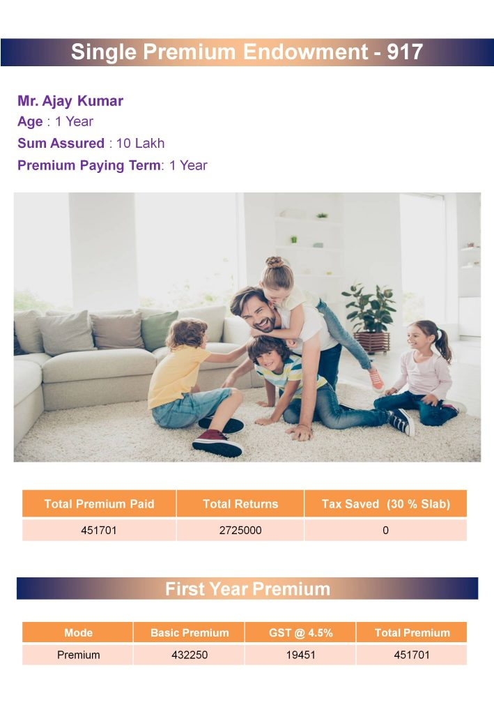 Single Premium Endowment Plan (1)